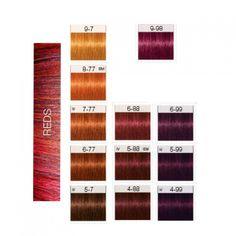 IGORA ROYAL REDS Schwarzkopf Hair Color Chart, Igora Hair Color, Color Cobrizo, Red Hair Color, Matrix Color Chart, Hair Color Formulas, Hair Color Techniques, Copper Hair, Hair Journey