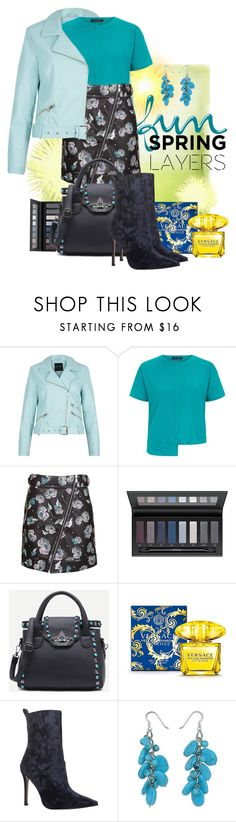 """""""Spring-Summer 17 (Plus Size Chic)"""" by foolsuk ❤ liked on Polyvore featuring Topshop, Versace, KG Kurt Geiger and NOVICA"""