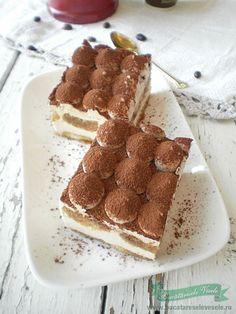 Romanian Food, Romanian Recipes, Italian Recipes, Tiramisu, Nom Nom, Sweet Treats, Deserts, Sweets, Chocolate