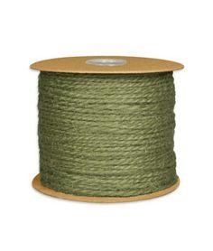 1.5mm Moss Green Jute Twine - 100 Yards @ onlinefabricstore.net  $5.60/100 yds.