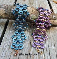 TUTORIAL Esmeralda Bracelet di MarinaBeads06 su Etsy