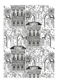Building Landscape Coloring Page