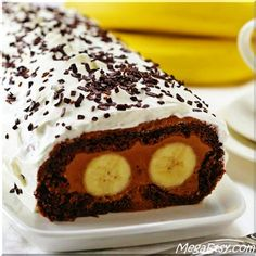 "Chocolate Banana Swiss Roll- ""Cat's Eyes""- funny name, intriguing look and divine taste, all-in-one. No wonder it is so popular!"