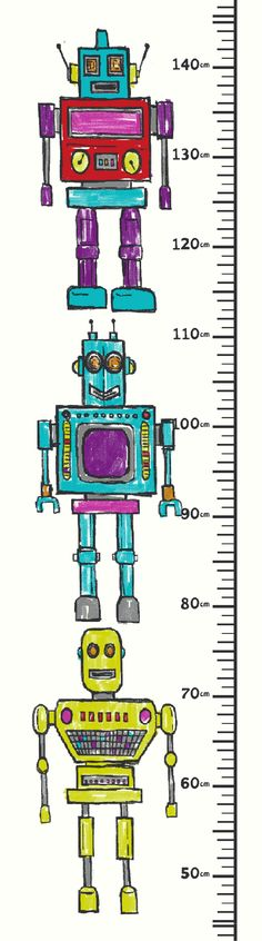 Robots Height Chart art by Arthouse
