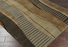 Mugal Area Rug | Brown Modern Rugs Hand Knotted | Style IN8020