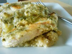 Ally's Sweet and Savory Eats: Basil Pesto Baked Chicken