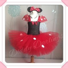 Minnie Mouse Tutu Dress    Simply stunning, this dress is sure to impress! Handmade and completely customised. Please message us if you would like