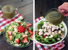 Simple Strawberry Brie Salad with Poppyseed Dressing!