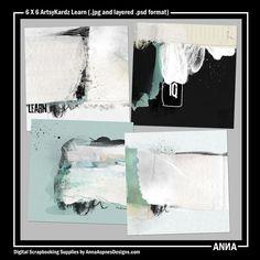 Oscraps :: Shop by Designer :: Anna Aspnes Designs :: 6 X 6 ArtsyKardz Learn
