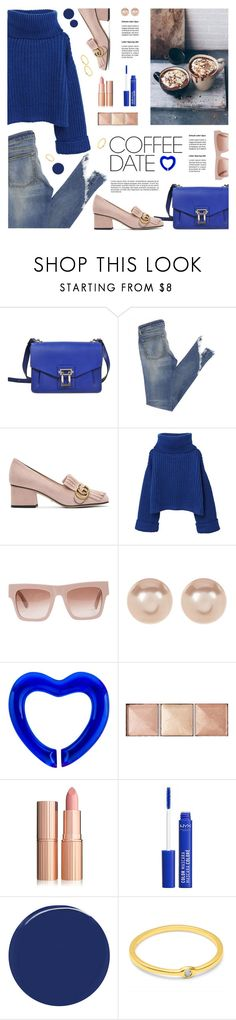 """""""Coffee Date 02"""" by tamara-p ❤ liked on Polyvore featuring Proenza Schouler, Gucci, MANGO, STELLA McCARTNEY, Nordstrom Rack, Baccarat, Hourglass Cosmetics, RGB Cosmetics and CoffeeDate"""
