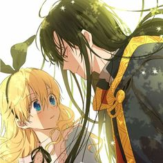 athanasia and lucas from who made me a princess? Anime Couples Drawings, Anime Couples Manga, Cute Anime Couples, Happy Tree Friends, Sword Art Online Manga, K Project Anime, Manga Anime Girl, Anime Girls, Thicc Anime