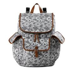 product image for BB Gear Aztec Print Backpack Diaper Bag in Grey/White