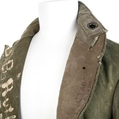 Greg Lauren Vintage Military Canvas Blazer Jacket in Green for Men (army) | Lyst