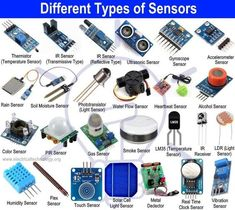 What is a Sensor? Different Types of Sensors with Applications - sensor - Technologie Electronics Projects, Electronic Circuit Projects, Electrical Projects, Electronics Components, Electronic Engineering, Electronics Gadgets, Mechatronics Engineering, Electrical Engineering, Tech Gadgets