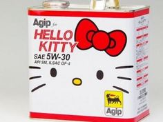 Agip Hello Kitty Motor Oil #hellokitty