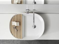 Note Design Studio Wash Basin, Remodelista  Might need to do this for our guest room sink!