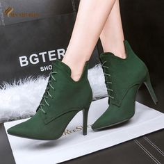 ==>>Big Save on2016 Women boots Fashion Faux suede shoelace pointed toe high heels ankle boots Botas Mujer Autumn winter boots club shoes woman2016 Women boots Fashion Faux suede shoelace pointed toe high heels ankle boots Botas Mujer Autumn winter boots club shoes womanLow Price Guarantee...Cleck Hot Deals >>> http://id237598604.cloudns.ditchyourip.com/32723946601.html images