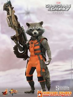 Guardians of the Galaxy Movie Masterpiece Action Figure 1/6 Rocket 16 cm ( Hot Toys )