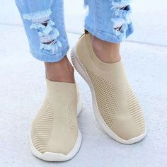 Mila - Breathable Sneakers Platform Sneakers, Slip On Sneakers, Casual Sneakers, Sneakers Fashion, Casual Shoes, Shoes Sneakers, Womens Wedge Sneakers, Running Sneakers, Sneakers Women