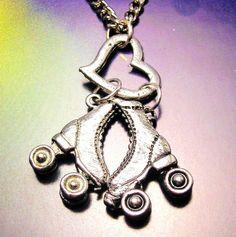 Roller Derby roller skates  necklace by MyTinyTemptations on Etsy, $9.99