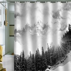 white mountain shower curtain by deny designs