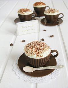 Con aroma de vainilla: Cupcakes de tiramisu