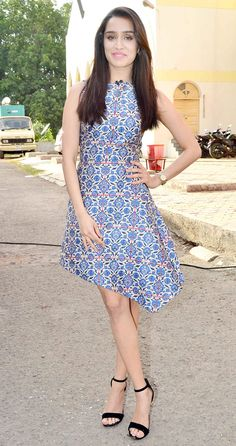 Shraddha Kapoor in a floral dress promoting 'ABCD 2'