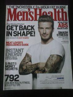 Men's Health David Beckham Cover