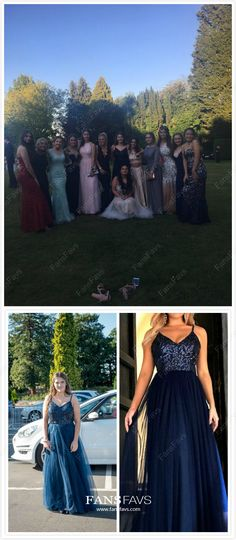 Long Prom Dresses Modest, 2019 Dark Navy Prom Dresses Elegant, A Line Prom Dresses Open Back, Tulle Prom Dresses V Neck Affordable Evening Dresses, Evening Dresses Online, Evening Dresses Plus Size, Designer Evening Dresses, Formal Evening Dresses, Gowns Online, Formal Prom, Navy Prom Dresses, Cheap Formal Dresses