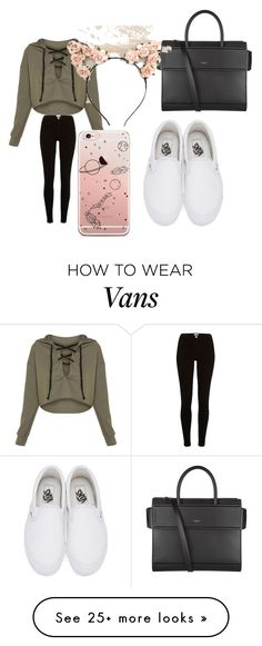 """Damn Daniel, back at it again with the white Vans."" by lordgigi on Polyvore featuring River Island, Vans and Givenchy"
