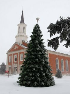 Hastings College in the snow!!!