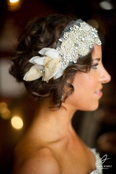my bridal portrait. sporting a one-of-a-kind doloris petunia petal bandeau: http://www.etsy.com/listing/82278170/the-classic-crystal-and-petal-bandeau-as