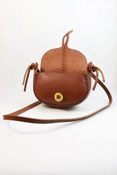 red leather purse. the wren in cherry wood by underthetreeithaca