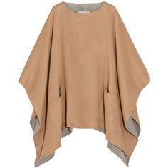 MICHAEL Michael KorsDouble-faced Felt Poncho (6 245 UAH) ❤ liked on Polyvore featuring outerwear, jackets, camel, beige poncho, michael michael kors, camel poncho and michael michael kors poncho