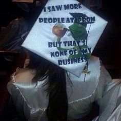 This is my graduation cap! Where do you find these! LOL