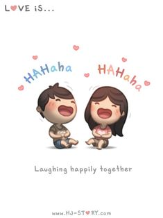 Love Is. Illustrations from HJ-Story Hj Story, Cute Couple Comics, Cute Couple Cartoon, Cute Love Cartoons, Cartoon Love Quotes, Chibi Couple, Baby Cartoon, Cute Love Stories, Love Story
