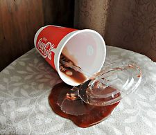 spilled punch cup