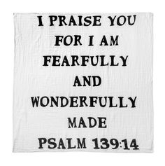 Swaddle Blanket | Fearfully And Wonderfully Made