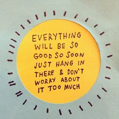 be patient with the timing... good things are coming