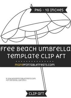 Free Beach Umbrella Template - Clipart