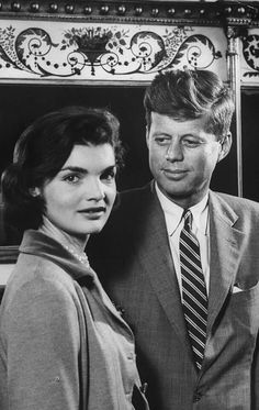 Collections President John F Kennedy and Jackie Onassis BW #3 Poster