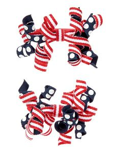 Patriotic Curly Hair Clip Two-Pack from Gymboree on Catalog Spree, my personal digital mall.