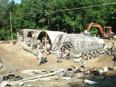 earthship buildsite