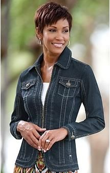 Ladies Fitted Denim Jacket - Coat Nj