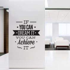 Office Decor Typography Decal Stickers Dream I por homeartstickers