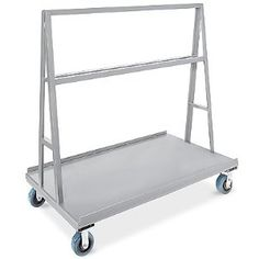 """A-Frame Panel Truck, 30 x 60"""" by ULINE. $379.00. A-Frame Panel Trucks - Move large sheets of plywood, drywall and steel easily with this heavy-duty truck. 1"""" retaining lip on each side keeps panels from sliding off. All-welded 12 gauge steel construction. Frame extends 48"""" above deck to provide sturdy s"""