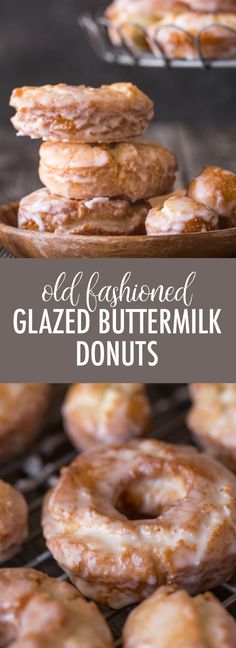 These Old Fashioned Glazed Buttermilk Donuts are all about the texture. - These Old Fashioned Glazed Buttermilk Donuts are all about the texture. They are soft and cakey on - Buttermilk Recipes, Homemade Buttermilk, Homemade Donuts, Homemade Breads, Baked Donut Recipes, Baked Donuts, Baking Recipes, Old Fashioned Cake Donut Recipe, Old Fashioned Buttermilk Donuts Recipe