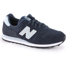 New Balance 373 Womens Trainers in Navy Blue ($7.76) ❤ liked on Polyvore