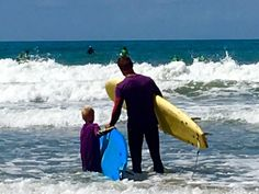 Wave surfing togethe