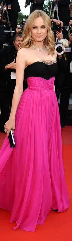 Red Carpet fashion dress #fuchsia    I could rock that.
